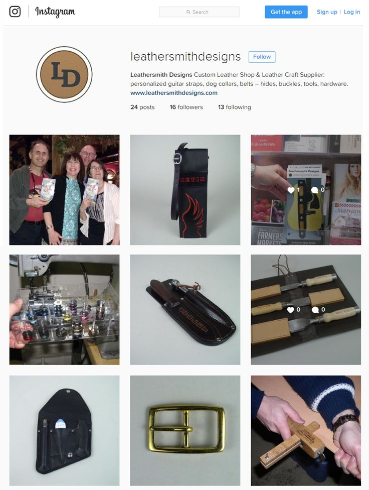 I recently set up an Instagram account but am very new to this social media platform so my posts will be slow until I get more familiar with it. So right now it is a learning curve for me. #Instagram #LeathersmithDesigns #Leather #LeatherSupplies #CustomLeather #LeatherCraft