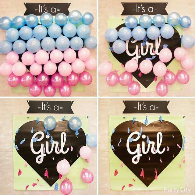 Love this idea!!! I think our first would be a girl... but I have to wait to pop the balloons.