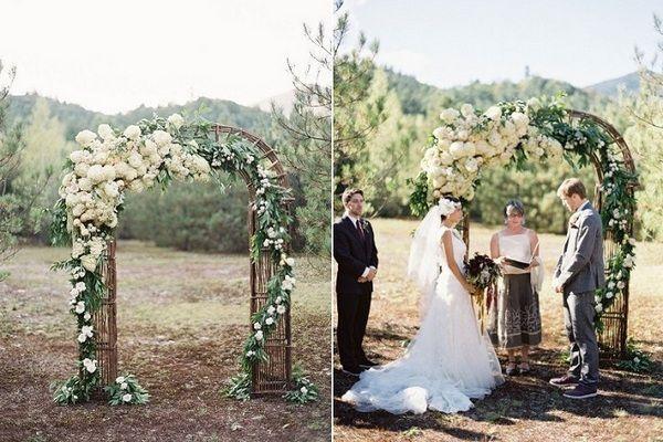 Декор и изготовление свадебной арки самостоятельно: идеи и инструкция