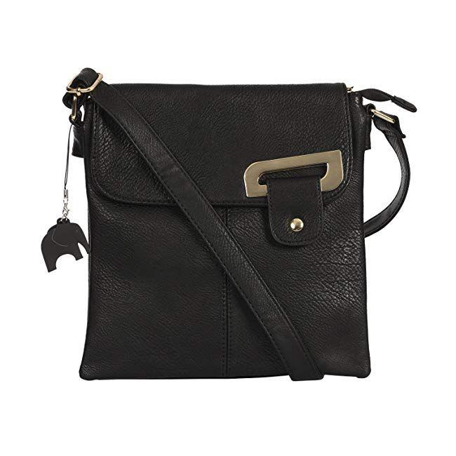 e893766c3a5 Big Handbag Shop Womens Medium Trendy Messenger Cross Body Shoulder Bag  With a Branded Protective Storage