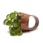 anello metallica rame peridoto olivina