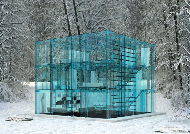 SantambrogioArchitects, House Design, Ice Cubes, Dreams, Architecture, Stones, Glass Houses, Glasses House, Glasshouse