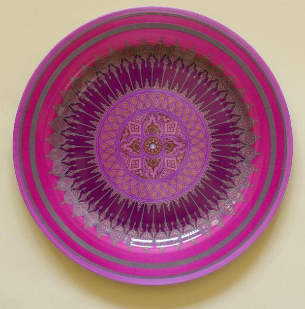 Winchester Mandala Melamine Deep Purple 10″  Plates, Set of 4
