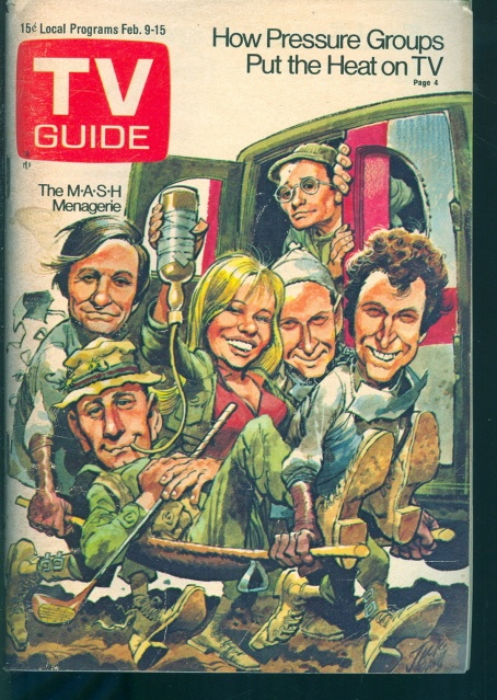 tv guide covers - Mash.. I have come across this till here very cool.
