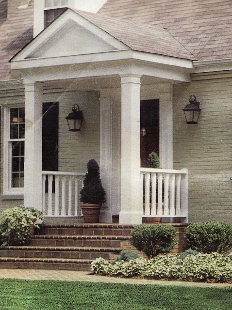 Our Cape Cod Needs A Covered Entry This Portico Looks