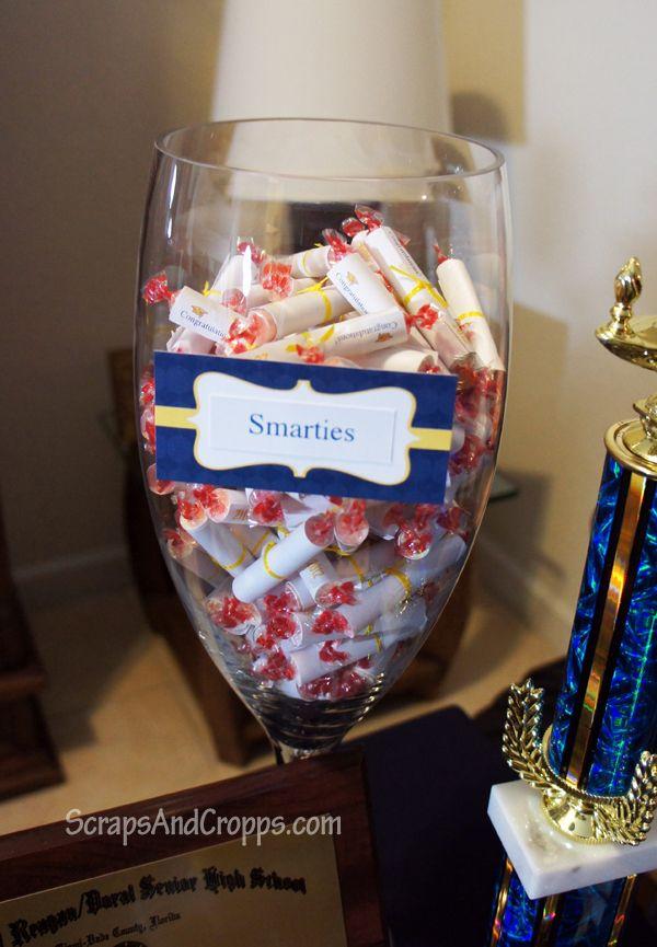 Graduation Party  Smarties . Graduation Party FavorsGraduation DecorationsGraduation IdeasGraduation ... & 66 best Graduation images on Pinterest | Graduation crafts Prom ...