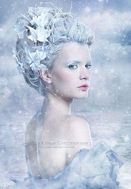 Gorgeous snow queen makeup