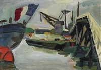 Le port de sete, 1948, Jacques Arnaud