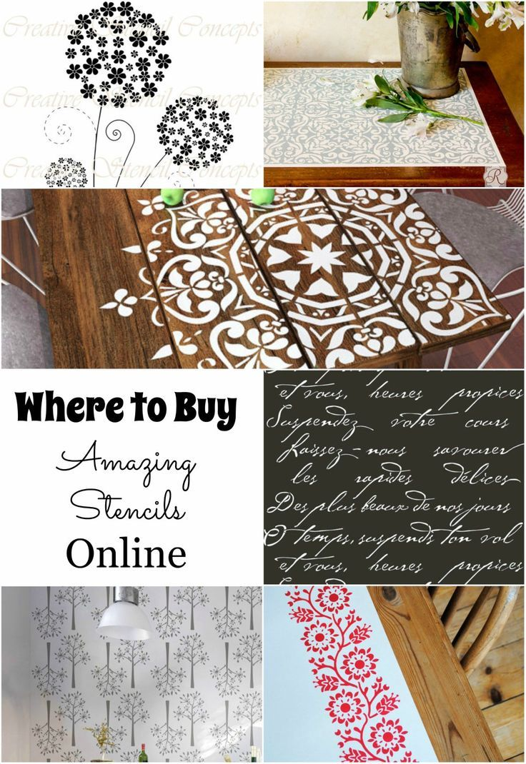 Where to Buy Amazing Stencils Online                                                                                                                                                      More