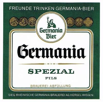 """Germania Spezial Pils - soll neben der Sorte """"Edelbitter"""" weniger gehopft gewesen sein und deshalb milder geschmeckt haben."""