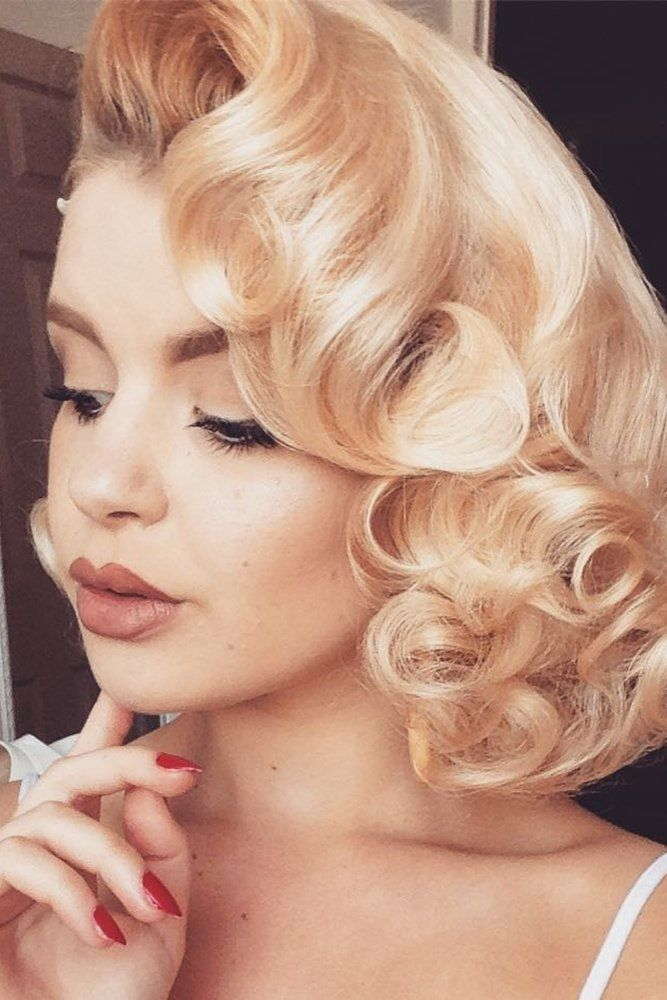 Inspiration For Wedding Updos For Short Hair Length Wedding Forward Vintage Short Hair Short Hair Updo How To Curl Short Hair
