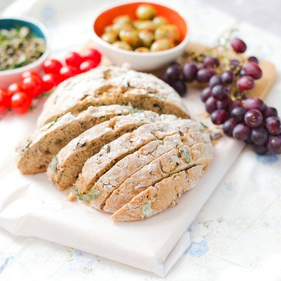 Almond, Raisin and Basil Soda Bread - delicious & easy to ...