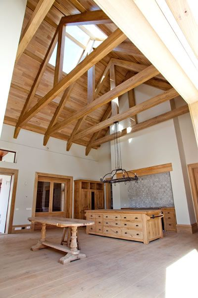 62 best images about exposed timber trusses on pinterest for Exposed roof truss design