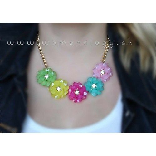 Náhrdelník Spring Flower Rainbow #necklace #necklaces #accessories #fashion #style #fashionjewelry #fashionjewellery #bijoux #bijouterie #womanology