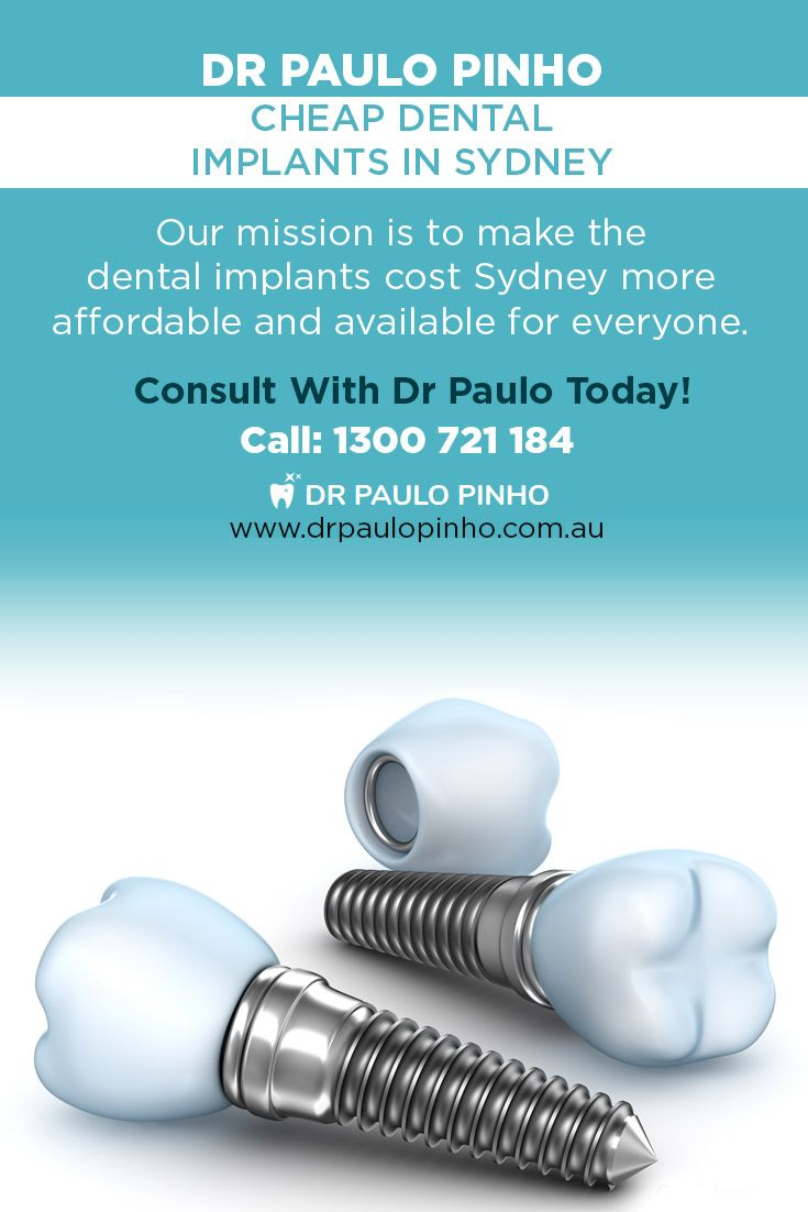 Dr Paulo Pinho - Cheap Dental Implants in Sydney. Our mission is to make the #dental_implants_cost_Sydney more affordable and available for everyone. Consult With Dr Paulo Today! https://www.drpaulopinho.com.au/dental-implants/costs-financing/