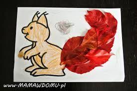Znalezione obrazy dla zapytania wiewiórka praca plastyczna przedszkole