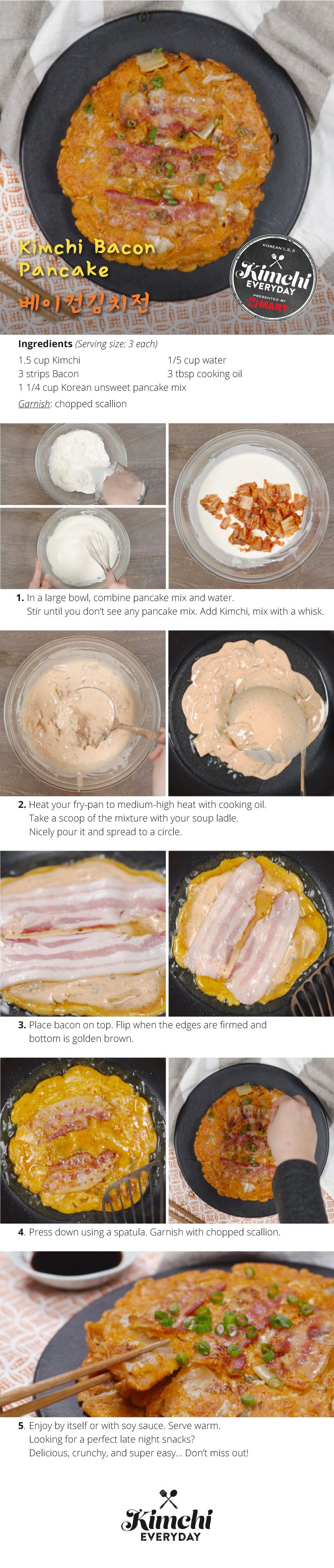 Hmart presents: How to make Kimchi Bacon Pancake