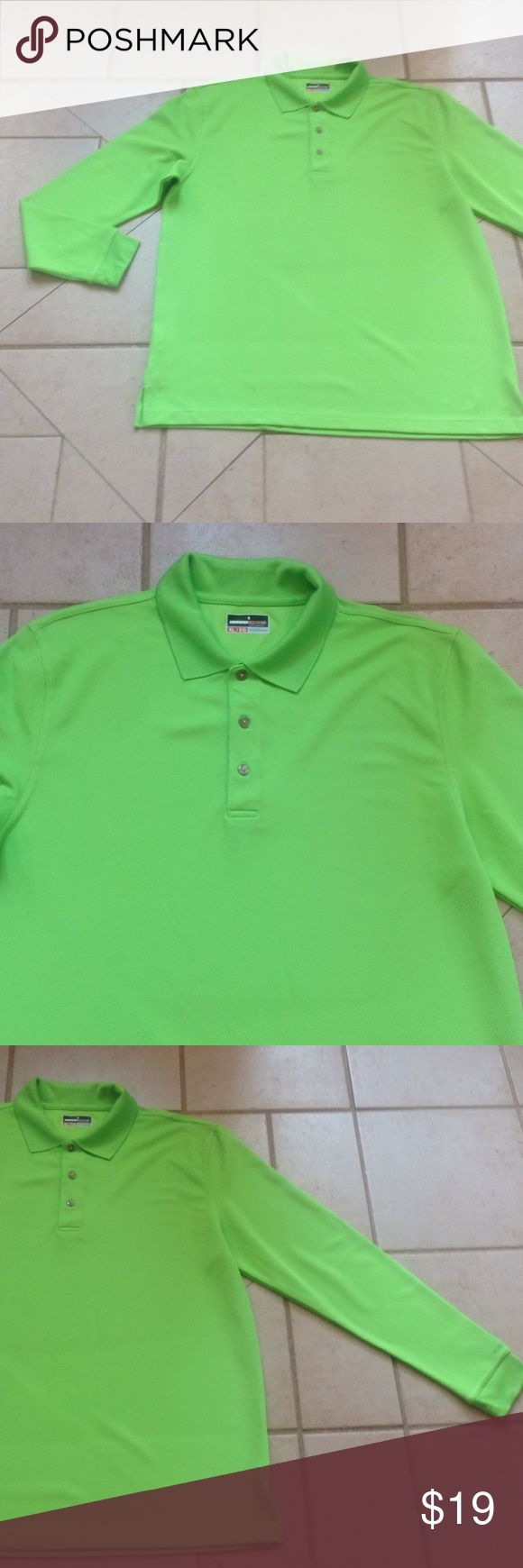 GRAND SLAM Performance Lime Green Shirt  Sz XL GREAT BUY! Describes this Lime Green GRAND PERFORMANCE Shirt that measures 25 inches from armpit to armpit; and is 31 inches in overall length. grand slam performance Shirts