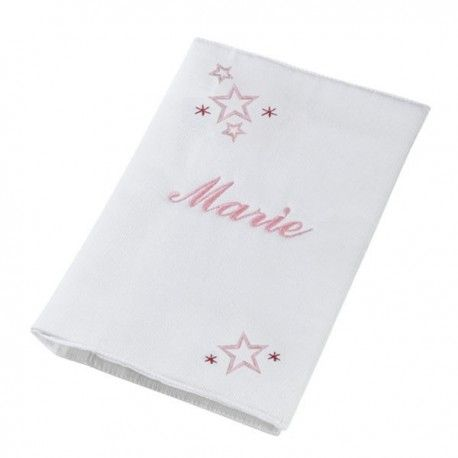 Protège carnet de santé star, marie, prénom, fille, made in france, prénom brodé, broderie, nanelle