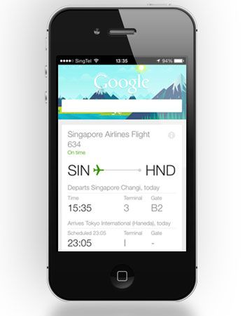 Singapore Airlines offers travel updates via Google Now