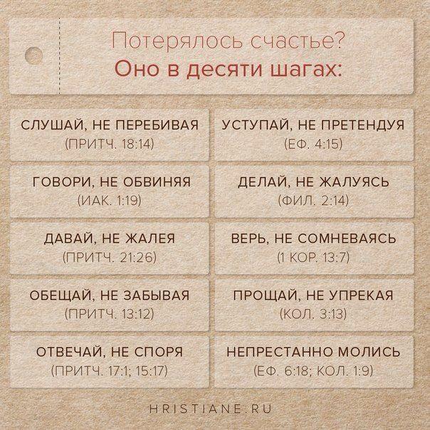 Советы из Библии