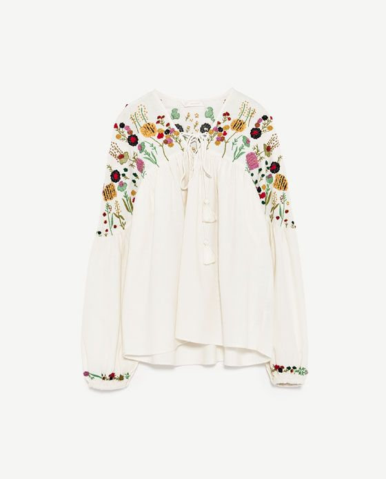 Image 6 of EMBROIDERED TOP from Zara
