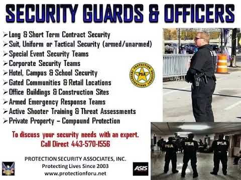 Protection Security AssociatesToday's criminal elements violent behavior and terrorist threats to our country have called for an evolution in domestic security. Gone are the days of being reactive, and simply observe and report. Security Officers today must have active shooter and protection training, maintaining a proactive approach to eliminate the threats before they happen. PSA adopted this philosophy and approach many years ago and remains a leader in the industry today. , Inc.