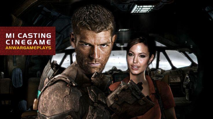 Liam Mcintyre y Angelina Jolie como Isaac Clarke y Ellie Langford (Dead Space 3)