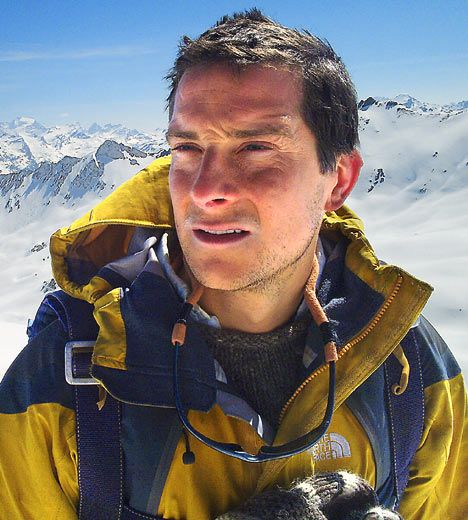 Ha, ha. This is how cool Chester is :) Bear Grylls, outdoor adventurer and survival expert.