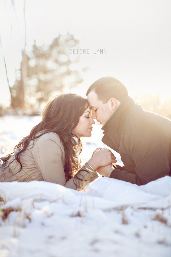 winter couple shoot