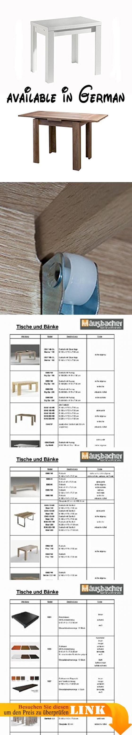 B00F4UTMEG : Zip Esstisch 80 x 60 cm mit zweiseitigem Auszug (ausziehbar auf 136 cm) in weiss matt (E1 Spanplatten mit Dekorfolie beschichtet - Ansatzleisten Massivholz).