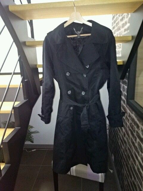 Trench-coat noir H