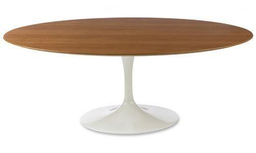 mesa de jantar tulipa saarinen tampo em madeira oval 160x090