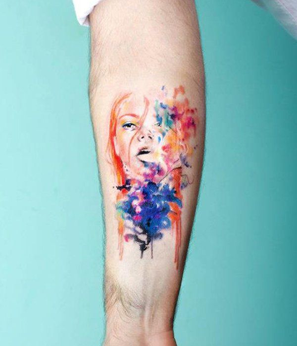 abstract Portrait tattoo - 40 Mind Blow Abstract Tattoos  <3 <3