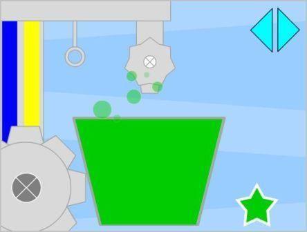 Ανακατεύω τα χρώματα και κάνω συνδυασμούς  Τα παιδιά παίζουν με τη μηχανή των χρωμάτων . Υπάρχουν 6 καρτέλες με αναμείξεις χρωμάτων , για να ξεκινήσει η μηχανή να δουλεύει πρέπει να πατήσουμε το αστέρι κάτω δεξιά , ενώ για να μετακινηθούμε σε άλλο συνδυασμό πατάμε τα βελάκια στην επάνω δεξιά γωνία. Με το παιχνίδι αυτό μαθαίνουμε ότι: κόκκινο και κίτρινο=πορτοκαλί μπλε και κόκκινο = μοβ μαύρο και άσπρο = γκρι κόκκινο και άσπρο = ροζ μπλε και κίτρινο =πράσινο μπλε και άσπρο = γαλάζιο