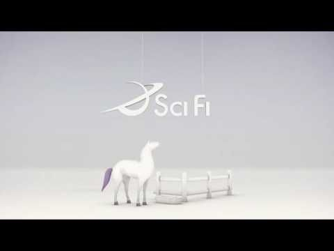 SyFy Idents - YouTube  This ident identifies the brands identy by making it seem like a comedic, lackadaisical approach