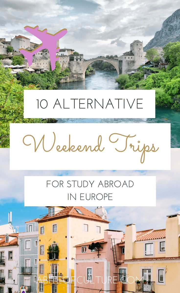 10 Alternative Weekend Trips for Study Abroad in Europe - Studying abroad in Europe and want to head out on some weekend trips to fulfill your travel bucket list? Here are 10 places you should travel to in Europe that aren't just the main cities.