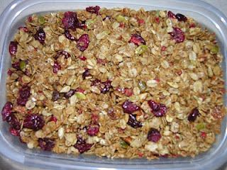 This is my recipe for Granola. It's the best and it's lowered my cholesterol.