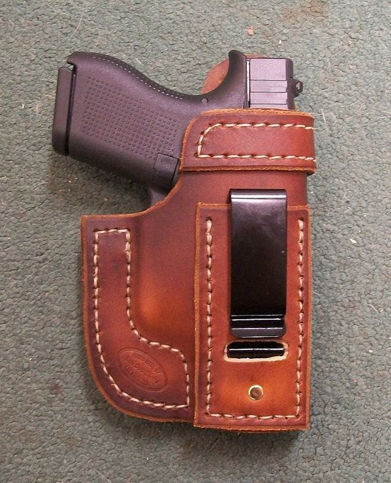 Right / Brown / IWB Glock 42 Holster by JacksonLeatherWork on Etsy