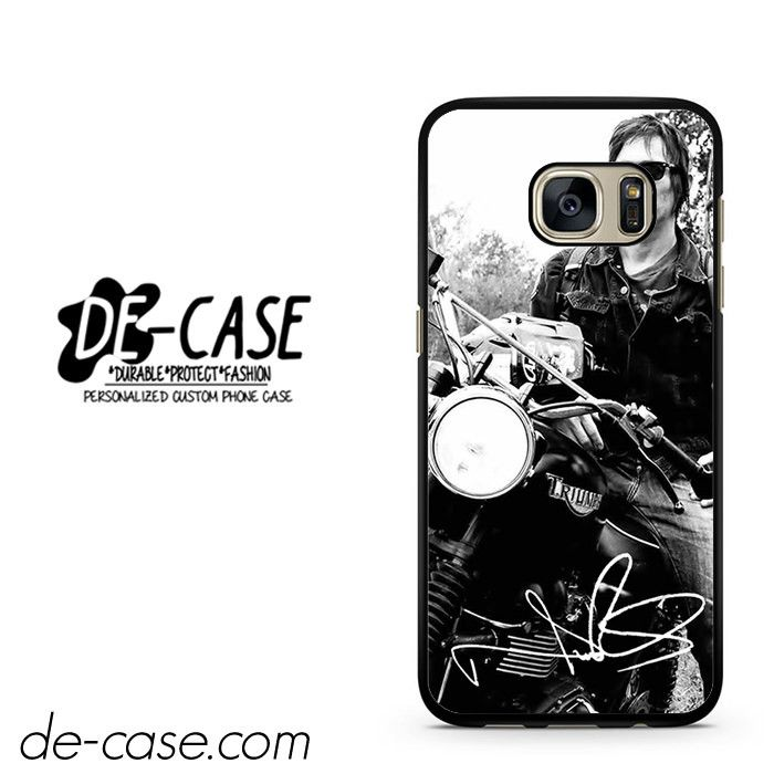 Norman Reedus And His Bike DEAL-8018 Samsung Phonecase Cover For Samsung Galaxy S7 / S7 Edge
