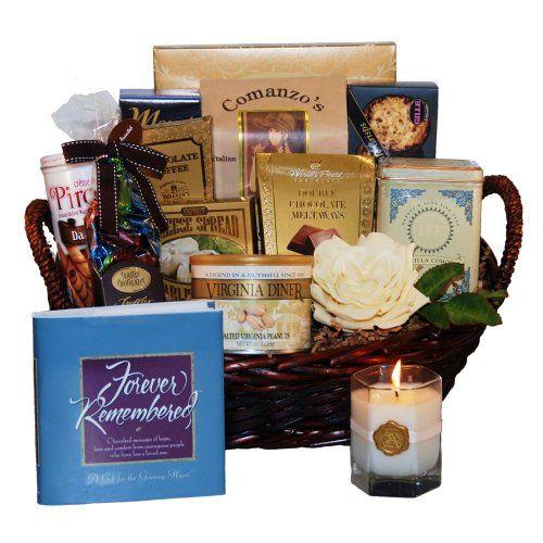 Forever Remembered Sympathy Gift Basket - http://mygourmetgifts.com/forever-remembered-sympathy-gift-basket/