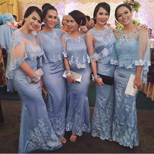 #inspirasikebaya #lace #tulle #bridesmaids #lavender