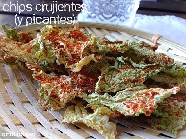 ♡ Chips Crujientes y picantes de col ♡