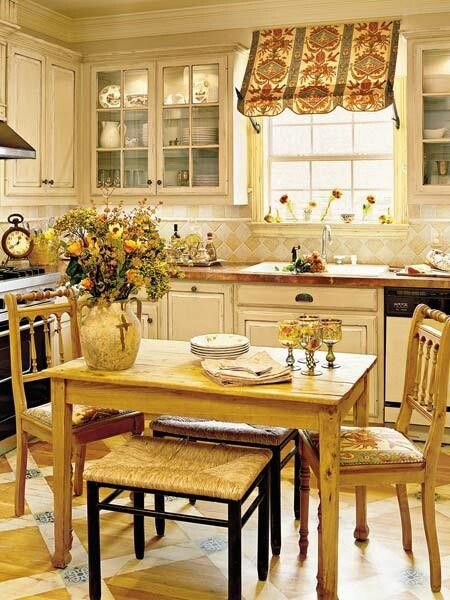 shabby french country chic kitchen....: