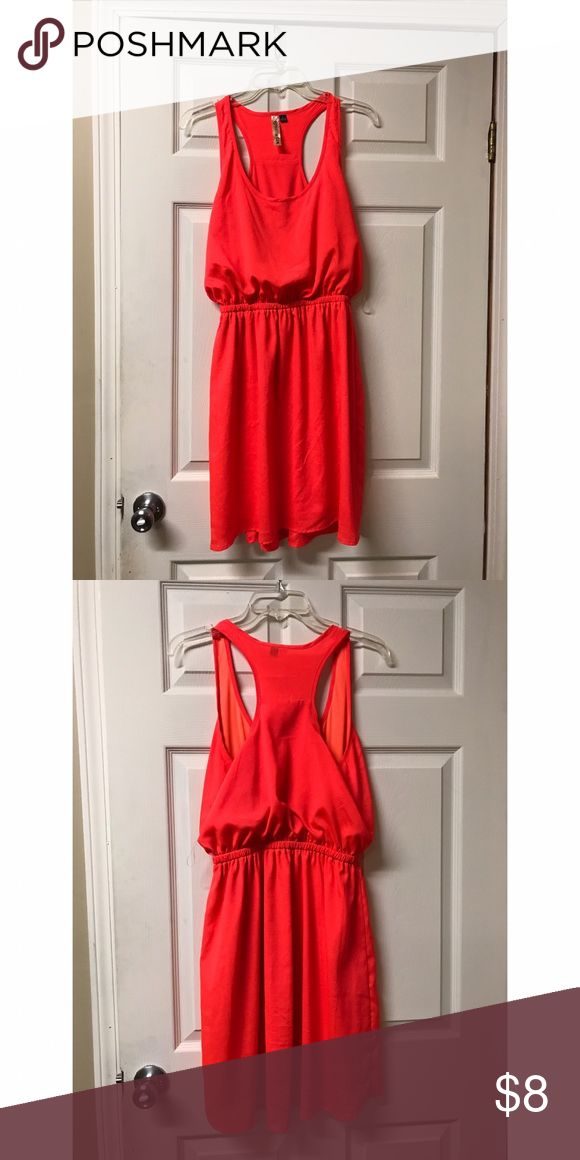 Bright orange dress Very cute bright orange dress w/ a razorback detail. Never worn! Dresses