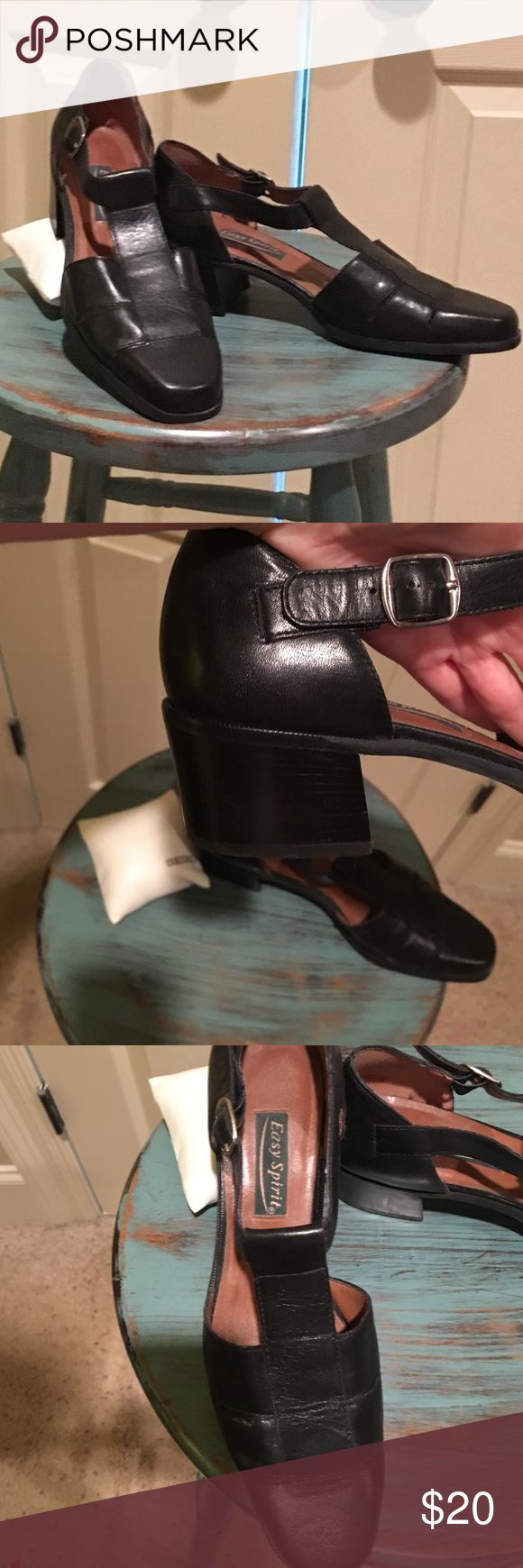 "PROFESSIONAL EASY SPIRITS * comfortable with a classic look * 2"" stacked heel * looks great with dress pants! * EUC Easy Spirit Shoes Heels"