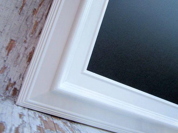 large white chalkboard 41x29 extra large framed chalkboard magnetic chalk board modern home - White Framed Chalkboard