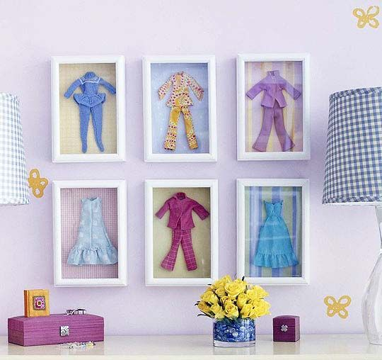 So cute! Custom frame your child's favorite doll clothes to create unique art!