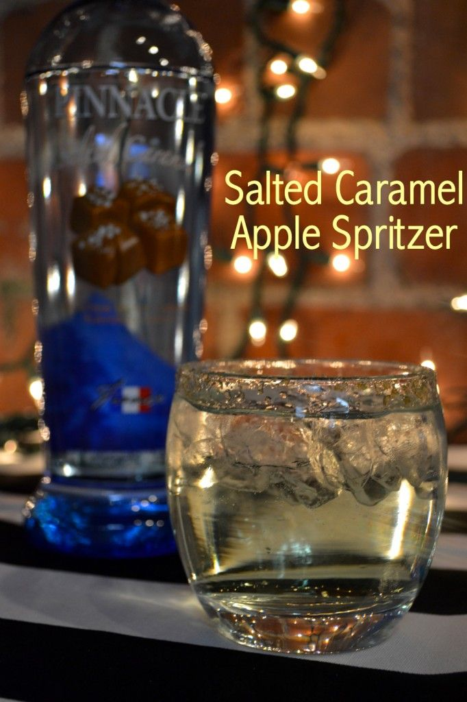 Salted Caramel Apple Spritzer - 2 parts Pinnacle salted caramel vodka - 1 part sour apple pucker - splash of club soda