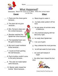 Best 25+ Cause and effect worksheets ideas on Pinterest | Cause ...